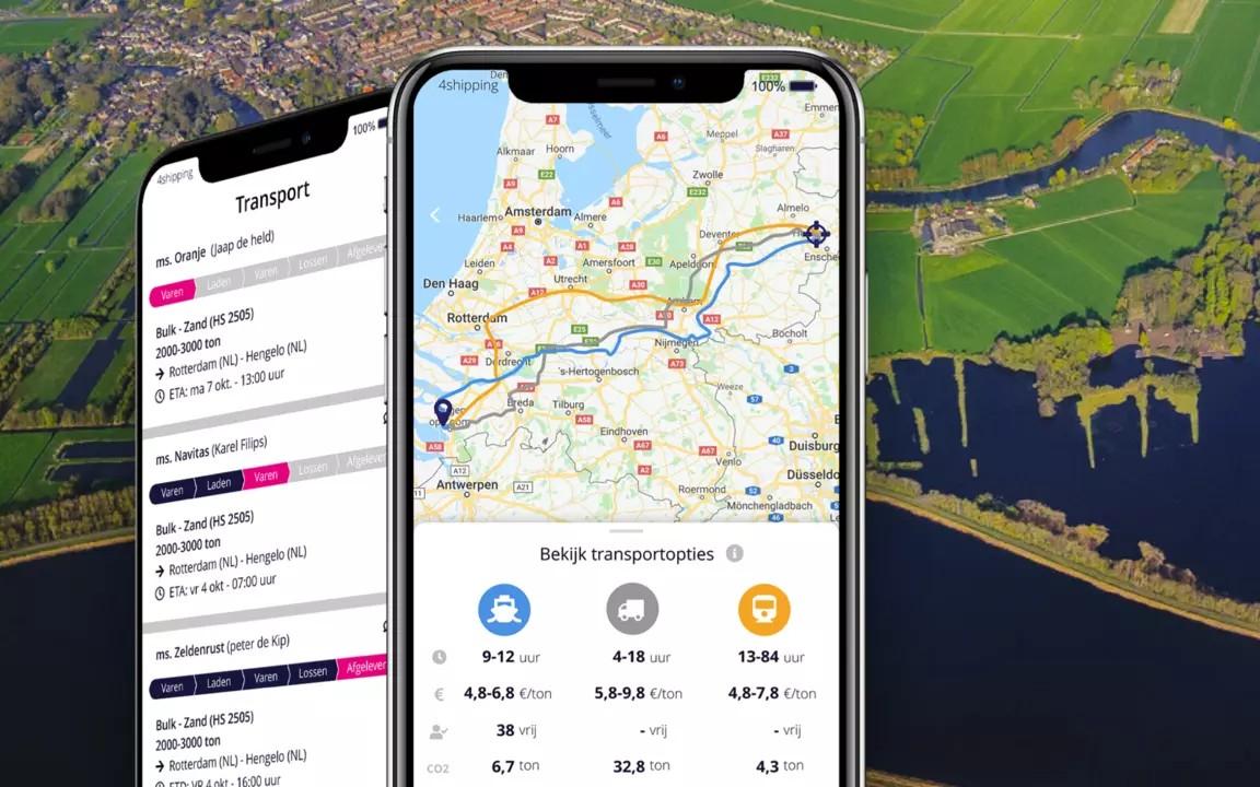 Slimme app voorkomt lege binnenvaart